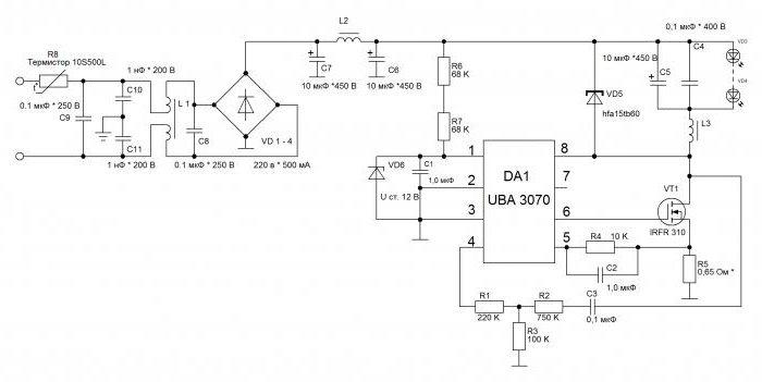 Схема драйвера светодиодной лампы navigator